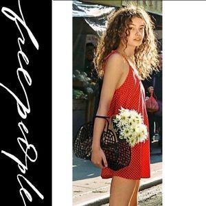 Free People Take Me Away Femme Slip Mini Dress NWT